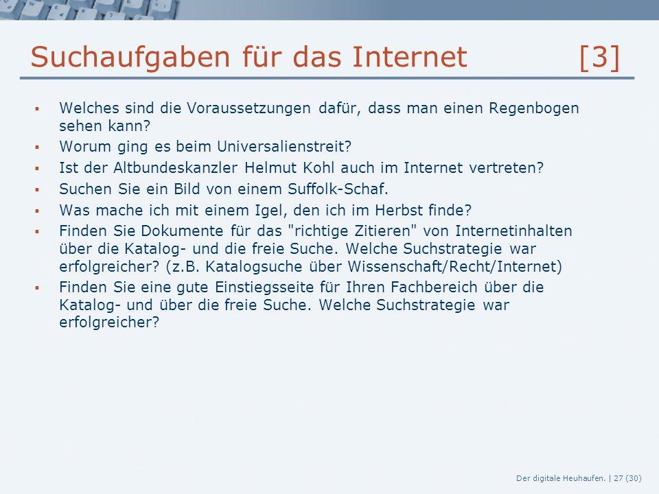 Suchaufgaben für das Internet [3]